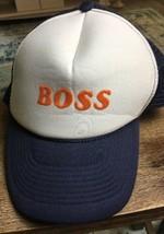 vintage Boss TRUCKER STYLE BALL CAP hat ADULT ONE~SIZE snapback SNAP BACK - $14.65