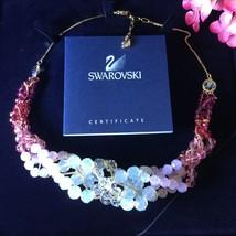 AUTHENTIC SWAN SIGNED SWAROVSKI NOBLE COLLAR NECKLACE 1084473 NIB RARE - £164.61 GBP