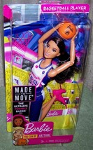 Barbie Made to Move Basketball Player Barbie Doll Ultimate Posable Barbi... - $25.88