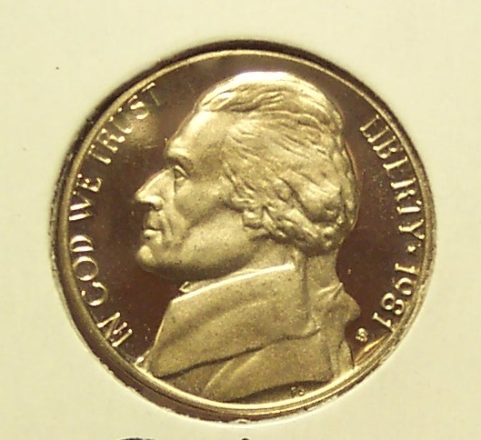 Primary image for 1981-S Cameo Proof Jefferson Nickel TYP2 #0784