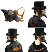 Reenactment Plague Doctor Steampunk Bird Leather Mask Halloween Gothic Cosplay image 9