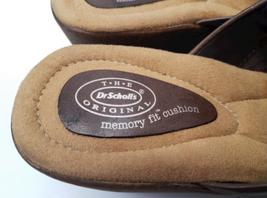 Brown Leather Dr Scholls Women Mule Clog Shoes Size 8 image 5