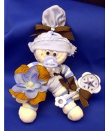 Blue Brown Boy Mini Sock Corsage and Baby Gift ... - $10.95