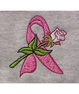Breast Cancer Awareness Pink Ribbon Rose Gray Hoodie Sweatshirt 3X New - $34.97