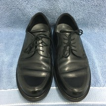 ECCO Men's Size 11-11.5 US  Boston Apron Toe Tie Leather Oxford Shoes Bl... - $47.21