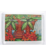 Foot Bridge Over Tropical Falls Print Refrigerator Magnet 2.5 x 3.5 from... - $4.50