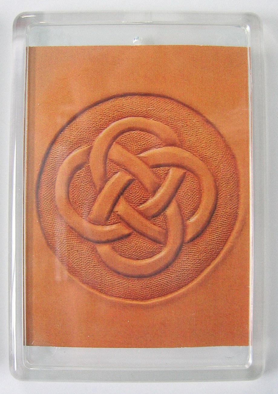 Celtic leather knot magnet
