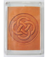 Celtic Knot Hand Tooled Leather Print Refrigerator Magnet 2.5 x 3.5 from... - $4.50