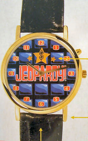 18KT Gold Plated Jeopardy Watch Wristwatch NEW Sealed Leather Lined Strap 1999