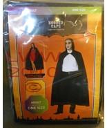 Black Hooded Halloween Cloak Cape New in Package - $10.00
