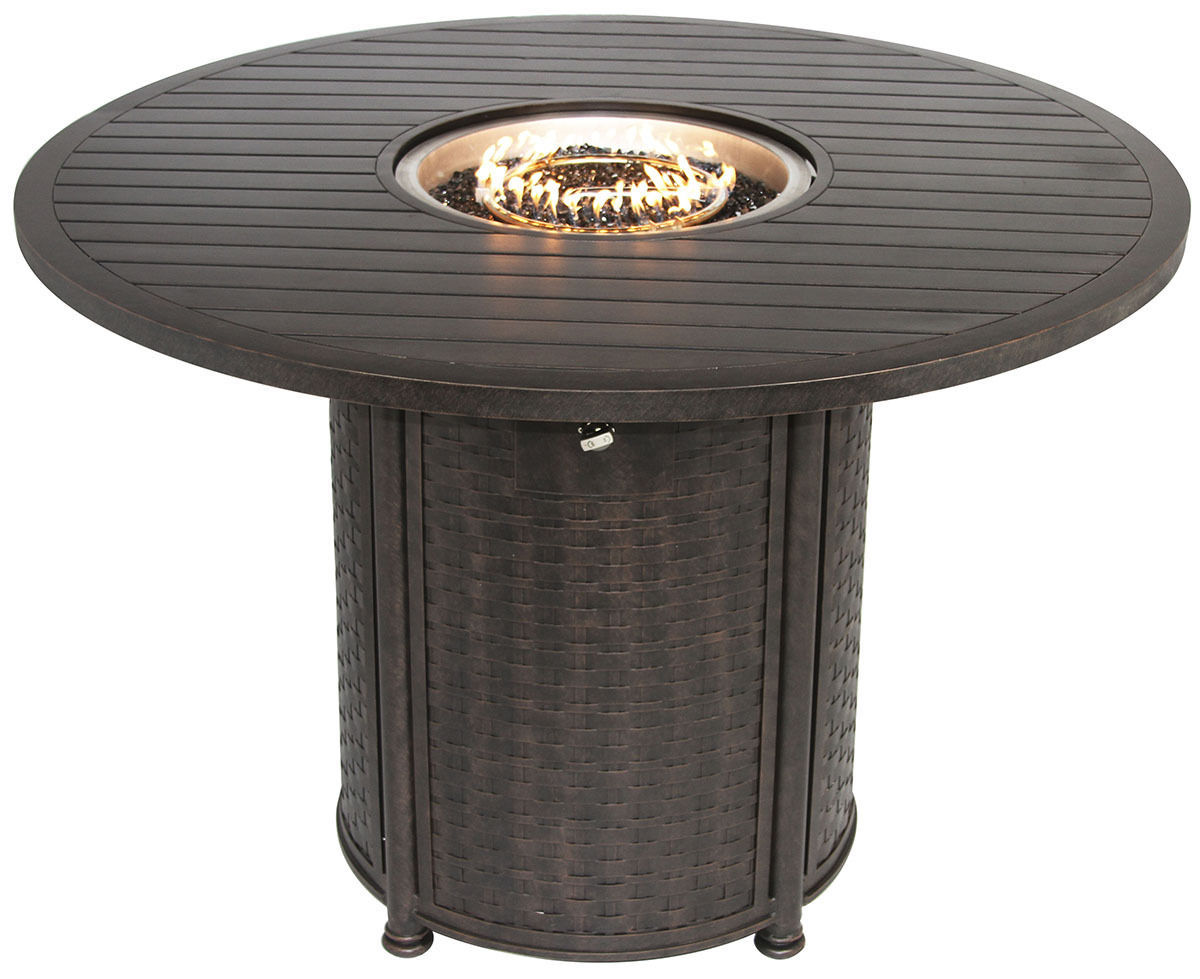 """OUTDOOR PATIO 60"""" ROUND BAR HEIGHT FIRE TABLE - SERIES 4000"""