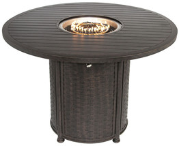 "OUTDOOR PATIO 60"" ROUND BAR HEIGHT FIRE TABLE - SERIES 4000 - $2,970.00"