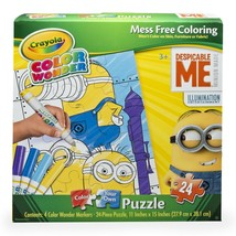 Despicable Me MINIONS Color Wonder Coloring MARKERS Art Drawing Puzzle New - $12.59