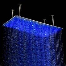 Cascada 20 X 39 Inch Luxury Large Recangular LED Rain Bathroom Showerheads Brush - $831.55