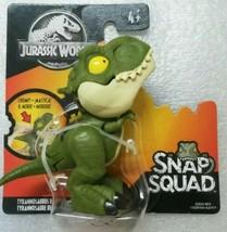 Jurassic World Snap Squad Mini Dinosaur Tyrannosaurus Rex T-Rex Green L... - $10.90