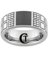 Tungsten Carbide Ring 8mm Pipe Doctor Who Tardis Design Sizes 4-17 - $49.00
