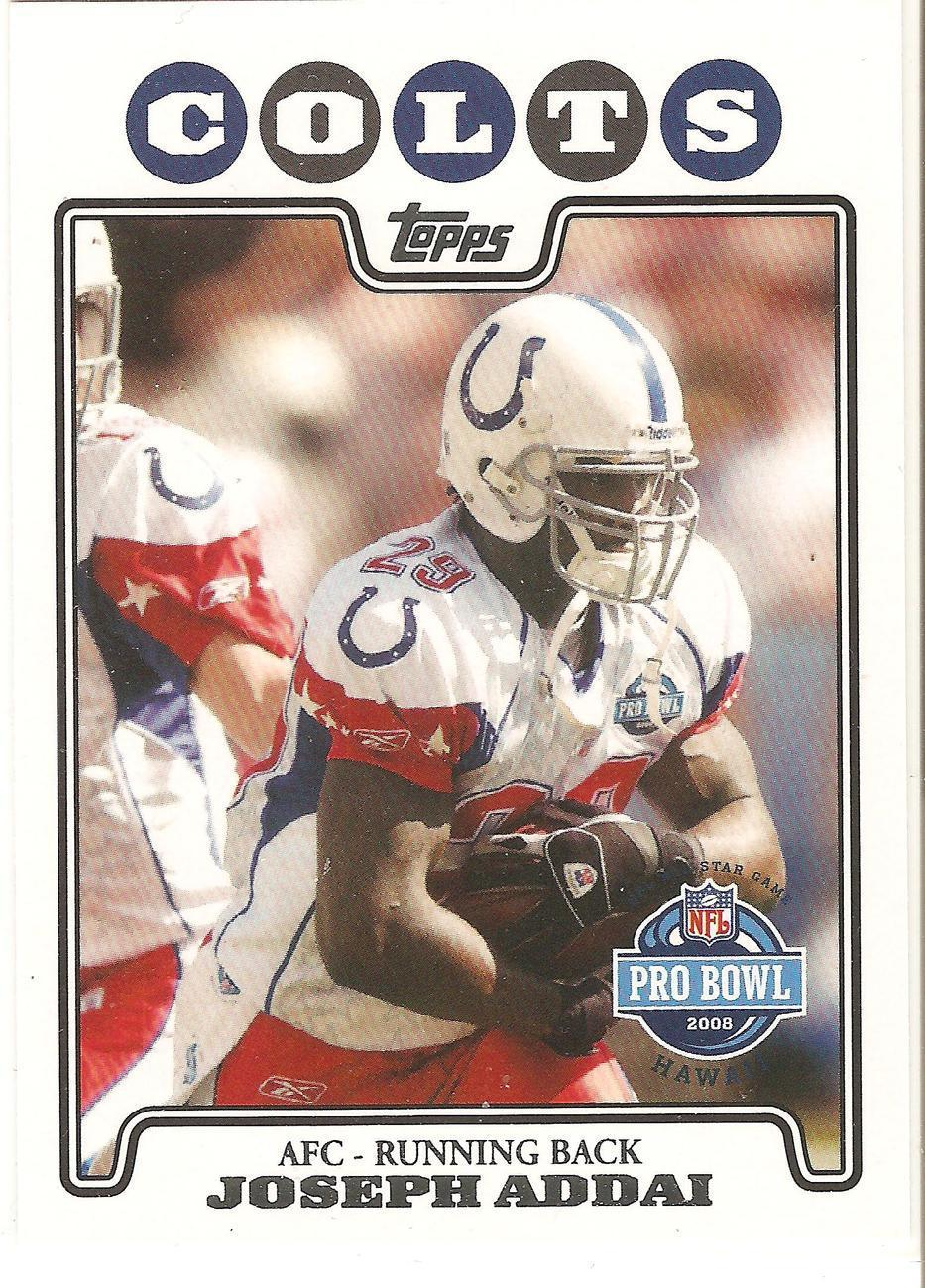 Joseph Addai Topps 08 #310 Indianapolis Colts New England Patriots