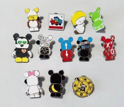 Disney Trading Pins Mickey Mouse + Bonus Cars Theme Set 11 Collectible L... - $25.40