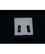 Faux Black Onyx Gold Accent earrings - $2.50