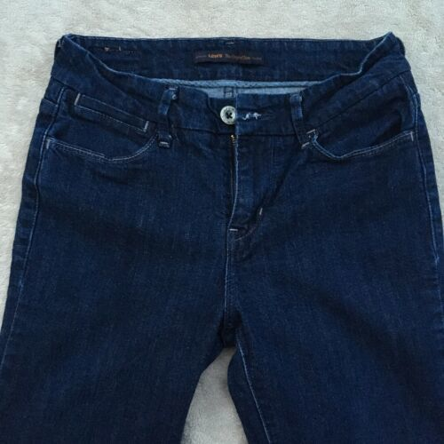 "Levis The Original Jean Womens Sz 4M Stretch Bell Bottom Dark Blue  (26""x 31"")"