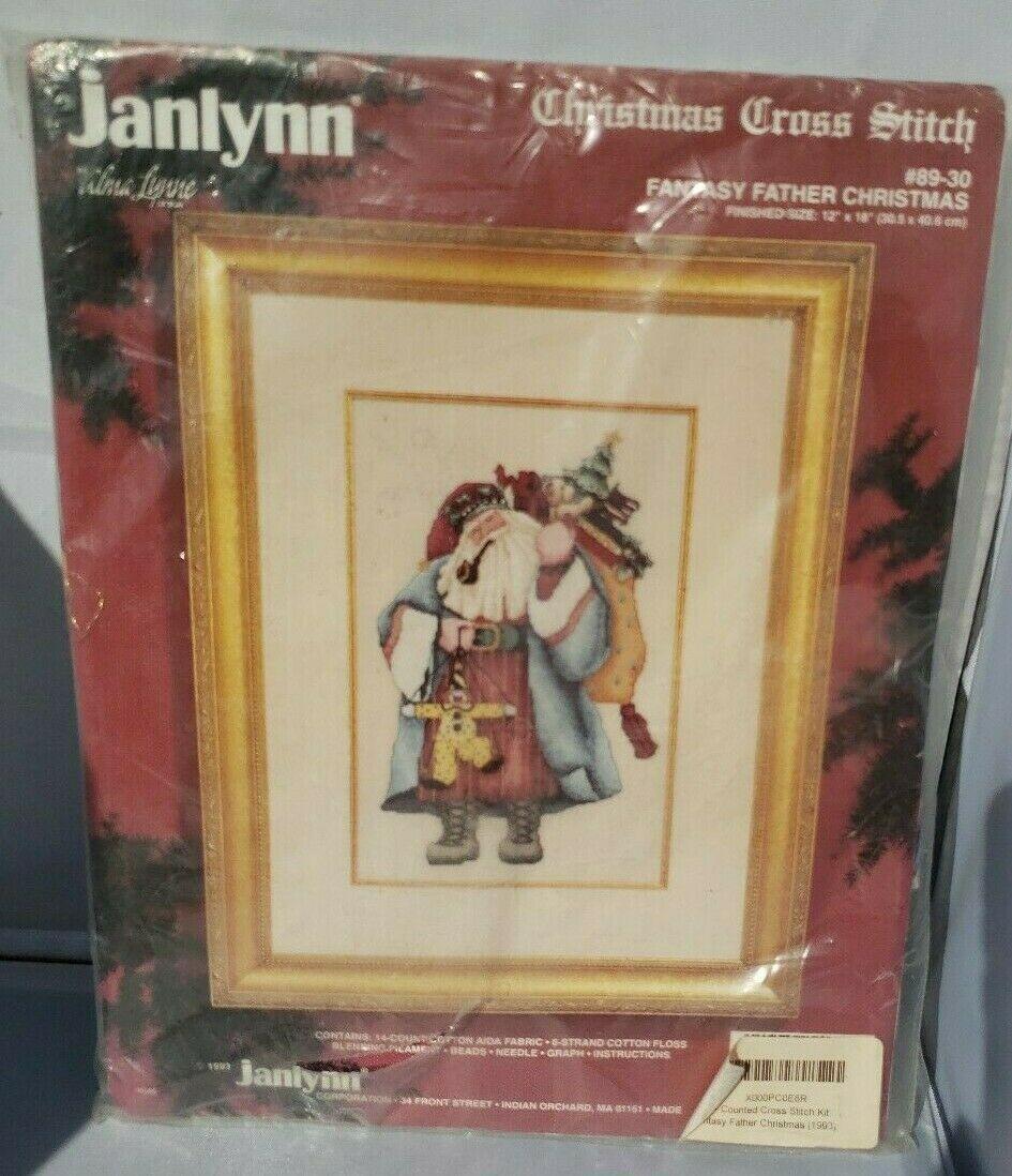 Janlynn Weihnachten Abgezähltes Kreuzstich Fantasie Weihnachtsmann Neu