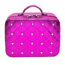 Cosmetics Case Household Storage Pack Makeup Organizer Toiletry Bag -Rose Red - $52.01