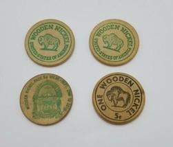 Lot of 4 Wood Nickels Pennsylvania 4-H Club Harrisburg Centennial & Ben'... - $12.75
