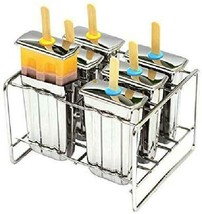 6 Classic 304(18/8)Stainless Steel Popsicle Molds Safety Recyclable Pops... - $53.08