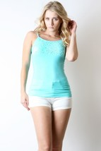 Turquoise Lace Bust Layering Cami, Layering Top, Turquoise Camisole