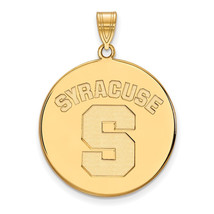 Sterling Silver w/GP LogoArt Syracuse University XL Disc Pendant - $89.00