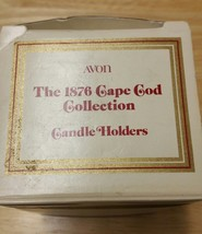 VINTAGE RED GLASS 2 piece candle stick holders AVON CAPE COD 1876 new in... - $6.89