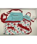 American Girl Williams Sonoma doll & child size girls baking apron mitt ... - $34.64
