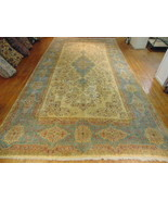 AUTHENTIC HANDMADE SEMI ANTIQUE PERSIAN KERMAN AREA RUG 11.3 x 22.2 - $5,500.00