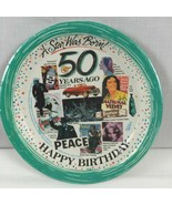 8 Dessert Plates Coated Paper Art Happy Birthday Vintage 1994 James Rive... - $8.70