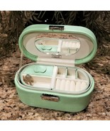 New TALBOTS Snake Embossed Mint Green Locking Travel Jewelry Case Box - $39.95