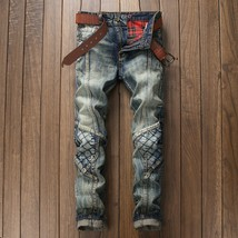 Autumn and winter, the new European and American foreign trade jeans, men's slim - $55.08