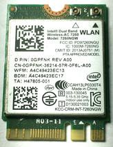 Dell GPFNK Wireless-AC 7260 WLAN WIFI 802.11 AC/A/B/G/N + BLUETOOTH 4.0 ... - $7.91
