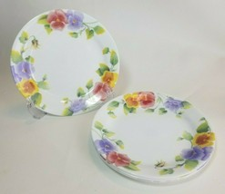"Corelle Corning Summer Blush Salad Luncheon  Side Bread Plates 7"" Set of 4 - $17.77"