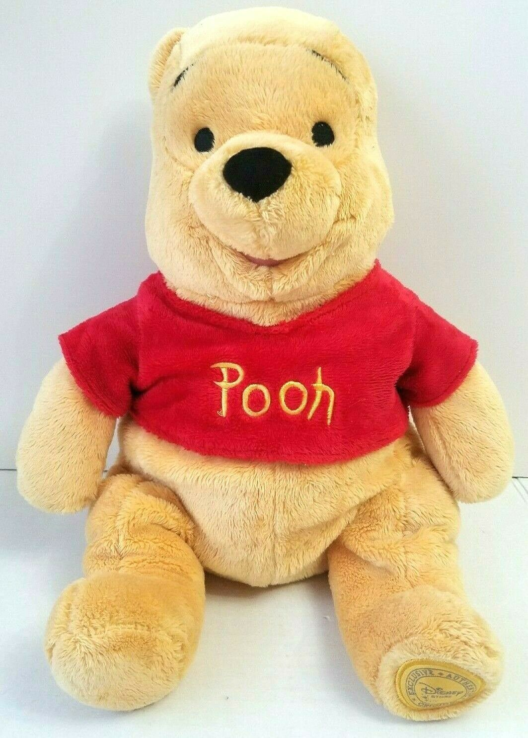 Disney Authentic Winnie The Pooh Plush Stuffed Animal Teddy Bear 17""