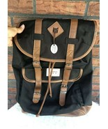 Benrus US Military Backpack Travel Sack Tote Camping Black Beige Travel ... - $24.75