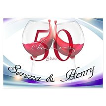 Cheers to 50th Wedding Anniversary Banner Personalized Party Decoration ... - €33,90 EUR