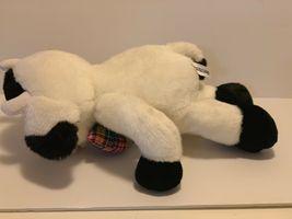 "Commonwealth Plush Cow Black White Stuffed Animal Plaid Bow Tie Soft 14"" Toy image 9"