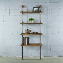 Sacramento Industrial Chic Solid Wood And Metal Etagere Display Shelf Bo... - $314.97