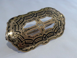 Antique 14k Yellow Gold Belt Buckle Stamped W. Cummings Patent Pd Aug 1868 - $1,995.00