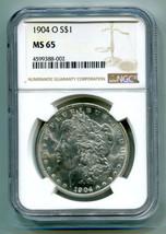1904-O MORGAN SILVER DOLLAR NGC MS 65 NICE ORIGINAL COIN BOBS COINS FAST... - $155.00