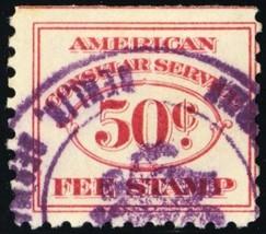 RK9, 50¢ Consular Service Revenue Stamp Cat $150.00 - Stuart Katz - $85.00