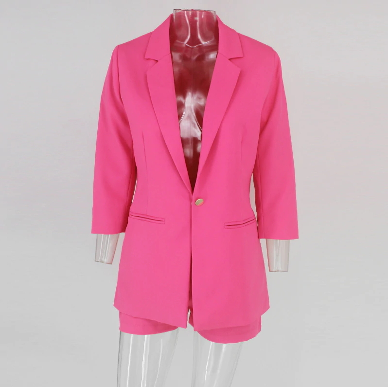 ITCQUALITY WOMEN 2 PIECE SET LONG SLEEVE BLAZER JACKET AND TROUSERS SUIT ITC1376