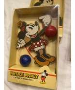 VNTG Disney MINNIE MOUSE Kurt Adler Wood Christmas Ornament *BRAND NEW I... - $21.99