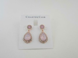 Charter Club Gold Tone Rose Teardrop Earrings - New - $14.85
