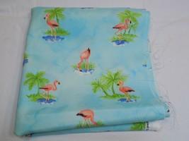 Laurette Designs Pink Flamingo Palm Tree Fabric Remnants p/k lifestyles ... - $59.99